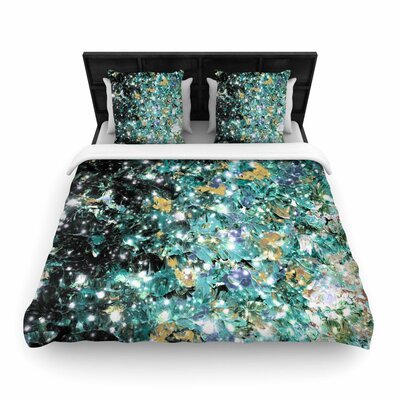 Ebi Emporium Minty Way Painting Woven Duvet Cover Size: King