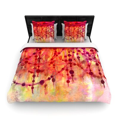 Ebi Emporium Prismacolor Pearls Woven Duvet Cover Size: Full/Queen