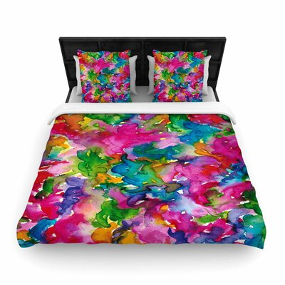 Ebi Emporium Summer Swirls Woven Duvet Cover Size: King