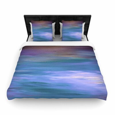 Ebi Emporium Resonance Woven Duvet Cover Color: Blue/Lavender, Size: King
