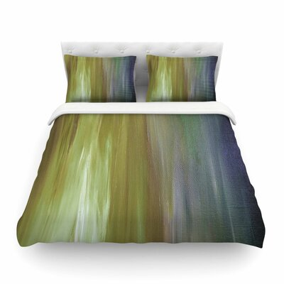 Ebi Emporium 'Resonance' Featherweight Duvet Cover Size: King, Color: Olive/Blue