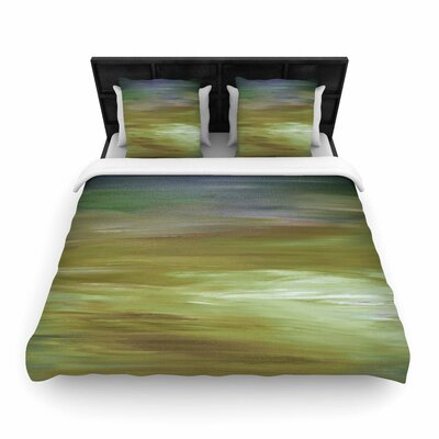 Ebi Emporium Resonance Woven Duvet Cover Size: Full/Queen, Color: Olive/Blue