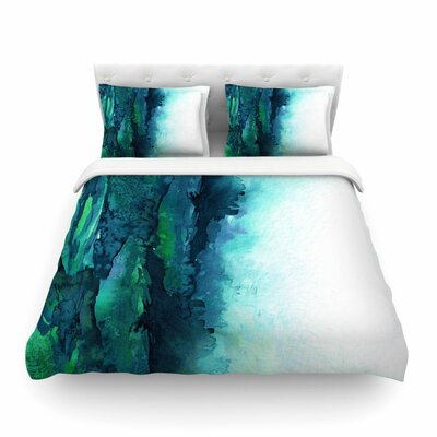 Ebi Emporium The Long Road Featherweight Duvet Cover Size: Twin, Color: Blue/Green