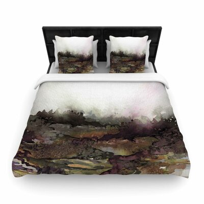 Ebi Emporium The Long Road Woven Duvet Cover Size: King, Color: Maroon/Olive