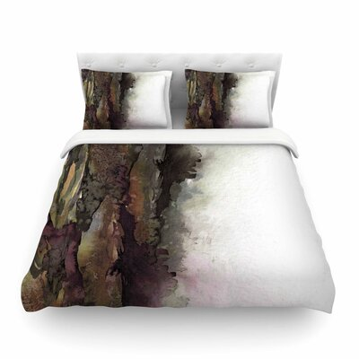 Ebi Emporium The Long Road Featherweight Duvet Cover Color: Maroon/Olive, Size: King