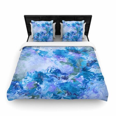 Ebi Emporium When We Were Mermaids Woven Duvet Cover Size: King, Color: Blue/Lavender