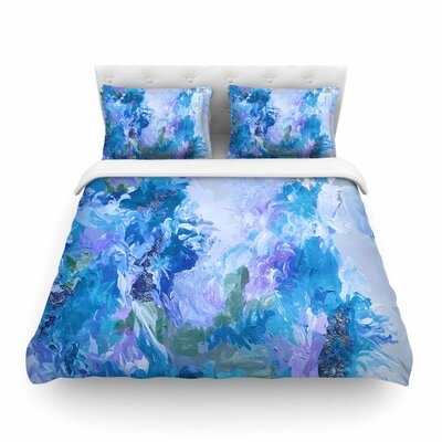 Ebi Emporium When We Were Mermaids Featherweight Duvet Cover Size: Twin, Color: Blue/Lavender