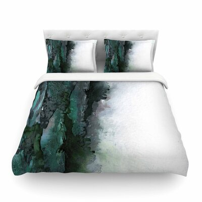 Ebi Emporium The Long Road Featherweight Duvet Cover Size: Twin, Color: Teal/Green