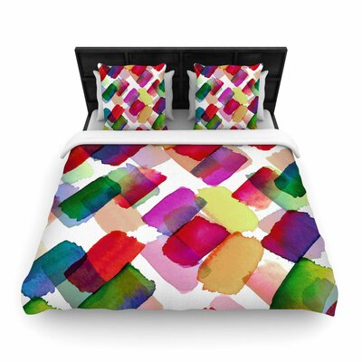 Ebi Emporium Strokes of Genius Woven Duvet Cover Size: Twin