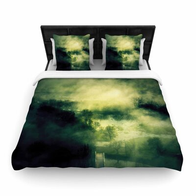 888 Dark Mystical Landscape Woven Duvet Cover Size: King