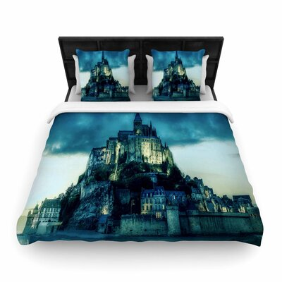 888 Haunted Castle Fantasy Woven Duvet Cover Size: King
