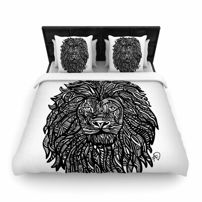 Adriana De Leon The Leon Lion  Woven Duvet Cover Size: King