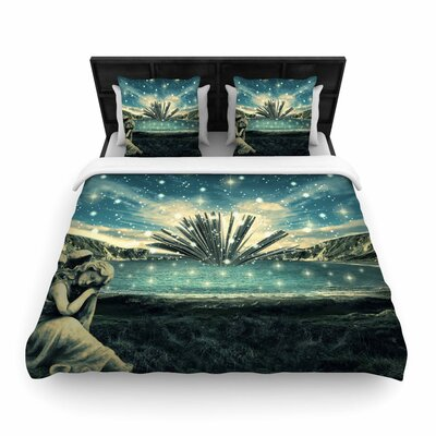 888 The Knowledge Keeper Fantasy Woven Duvet Cover Size: King