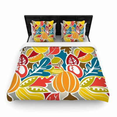 Agnes Schugardt Fall Harvest Food Woven Duvet Cover Size: King