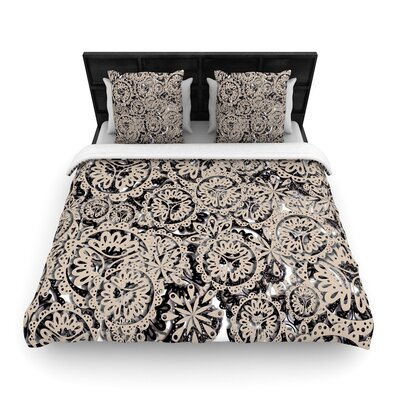 Akwaflorell Snowflakes Geometric Woven Duvet Cover Size: Twin