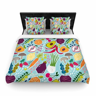Agnes Schugardt Garden Song Food Woven Duvet Cover Size: King