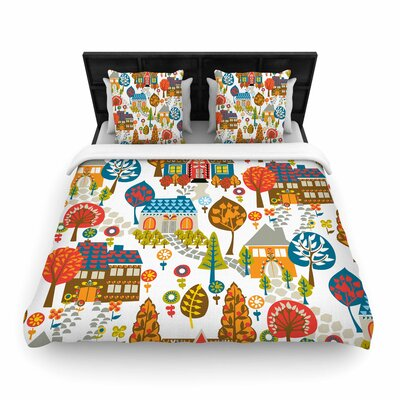 Agnes Schugardt In the Village Vintage Woven Duvet Cover Size: Full/Queen