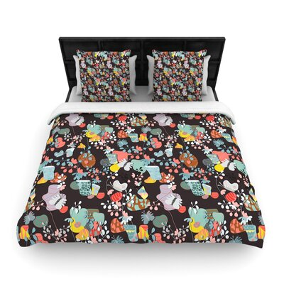 Akwaflorell At Home Woven Duvet Cover Size: Twin