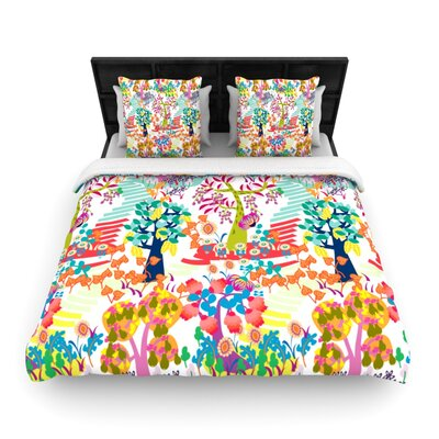 Agnes Schugardt Fruit of the Earth Woven Duvet Cover Size: King