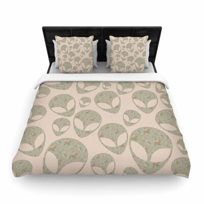 Alias Abducting the Flowers Woven Duvet Cover Size: Full/Queen