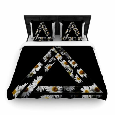 Alias Impossible Daisy Chain Woven Duvet Cover Size: King