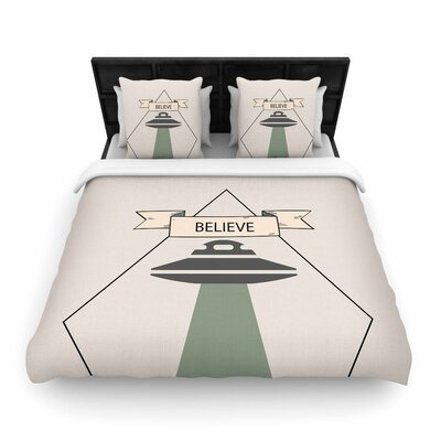 Alias Believe Geometric Woven Duvet Cover Size: Full/Queen