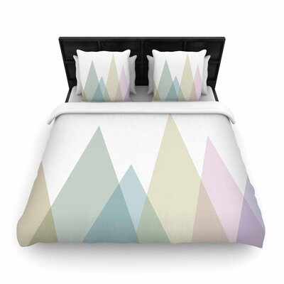Alias Many Peaks Illustration Woven Duvet Cover Size: Twin