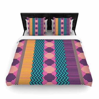 Akwaflorell Knitted Woven Duvet Cover Size: King