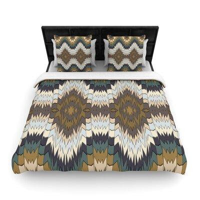 Akwaflorell Papercuts Geometric Woven Duvet Cover Size: Full/Queen