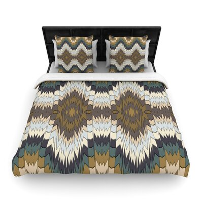 Akwaflorell Papercuts Geometric Woven Duvet Cover Size: King
