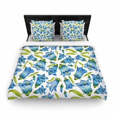 Alisa Drukman Campanula Floral Woven Duvet Cover Size: Twin