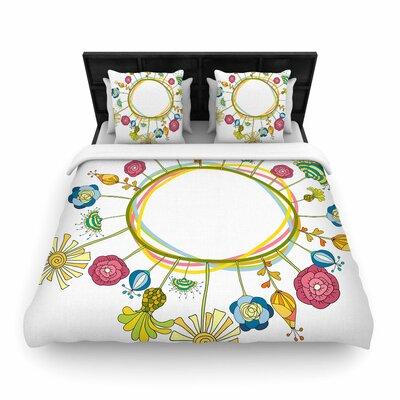 Alisa Drukman Flo Floral Woven Duvet Cover Size: Full/Queen