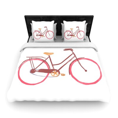 Alik Arzoumanian Bike Woven Duvet Cover Size: Twin