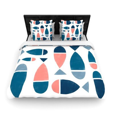 Alik Arzoumanian Fish Woven Duvet Cover Size: King