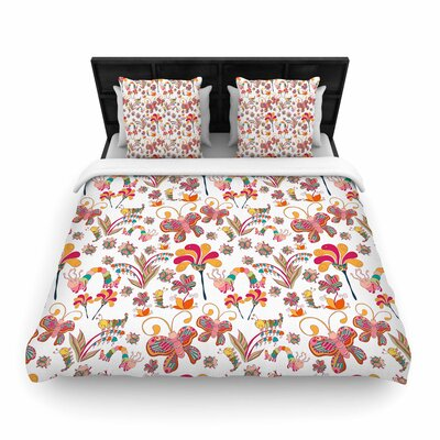 Alisa Drukman Fairy Forest Woven Duvet Cover Size: King