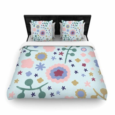 Alik Arzoumanian Morning Flowers Woven Duvet Cover Size: Full/Queen