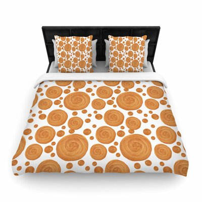 Alisa Drukman Gold Pattern Geometric Woven Duvet Cover Size: King