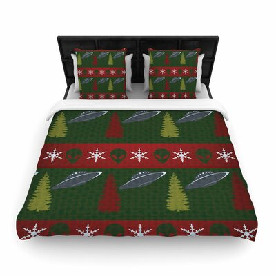 Alias Xmas Files Woven Duvet Cover Size: Twin