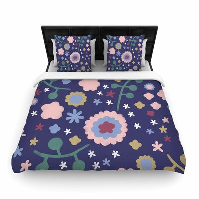 Alik Arzoumanian Night Floral Woven Duvet Cover Size: Twin