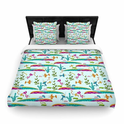 Alisa Drukman Under Sea Woven Duvet Cover Size: King