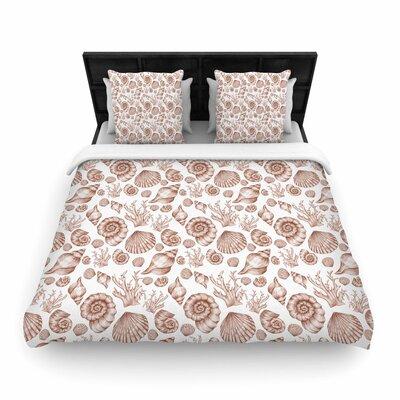 Alisa Drukman Seashells Woven Duvet Cover Size: Full/Queen