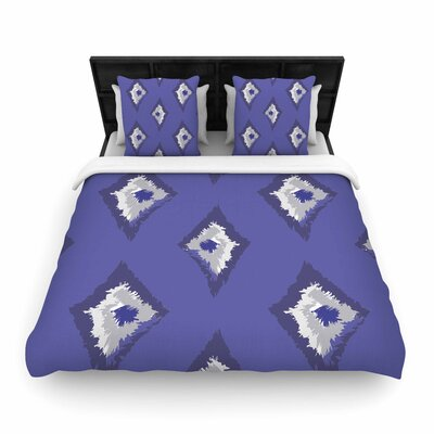 Alison Coxon Denim Ikat Woven Duvet Cover Size: Twin