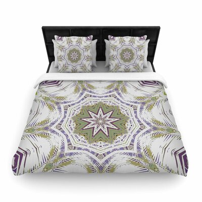 Alison Coxon Boho Dream  Woven Duvet Cover Size: King, Color: Purple/Green