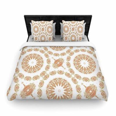 Alison Coxon Citrine Mandala Tile Woven Duvet Cover Size: Full/Queen