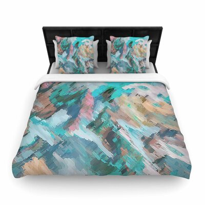 Alison Coxon Giverny Woven Duvet Cover Color: Blue/Teal, Size: King