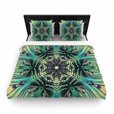 Alison Coxon Paradise Yellow Woven Duvet Cover Size: Twin