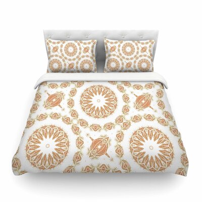 Alison Coxon Citrine Mandala Tile Digital Featherweight Duvet Cover Size: Twin