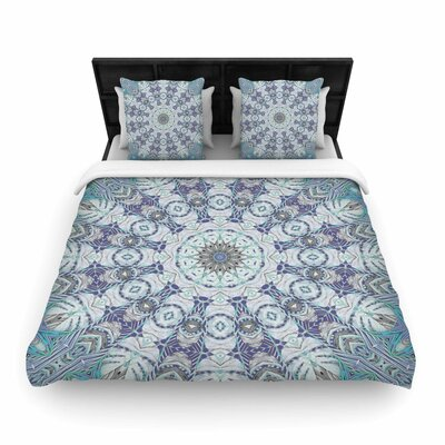Alison Coxon Jungle Kaleidoscope Woven Duvet Cover Color: Blue, Size: Full/Queen