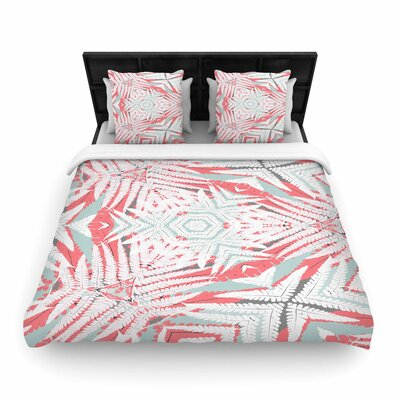 Alison Coxon Planthouse Woven Duvet Cover Color: Coral, Size: King