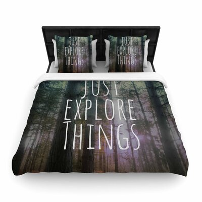 Alison Coxon Just Explore Things Photography Woven Duvet Cover Size: King
